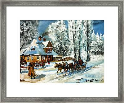 Cold Morning Framed Print by Ryszard Sleczka