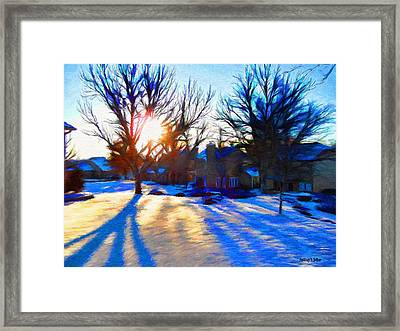 Cold Morning Sun Framed Print