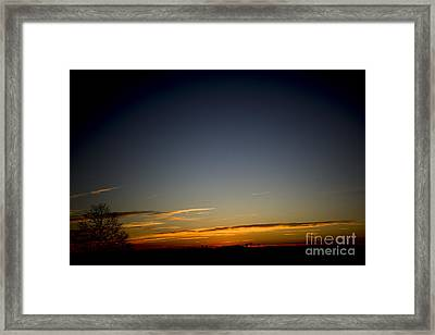 Cold Morning Sunrise Framed Print by Michael Waters