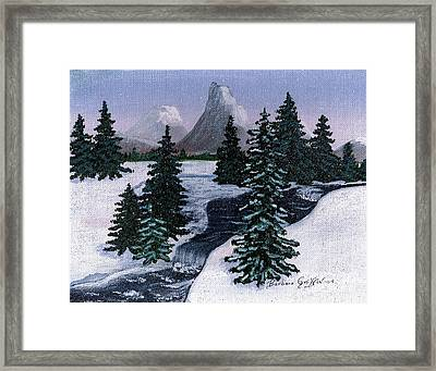 Cold Mountain Brook Framed Print by Barbara Griffin