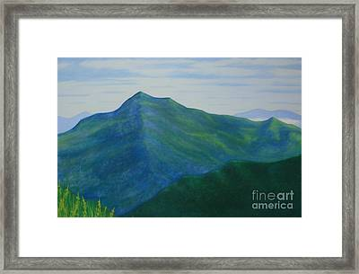 Framed Print featuring the painting Cold Mountain by Stacy C Bottoms
