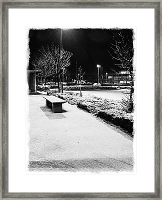 Cold Nights Journey Home Framed Print by Andrew Allsopp
