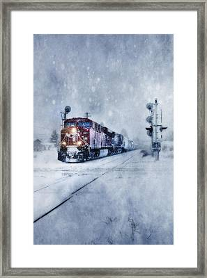 Cold Nights On The Midnight Train Color Framed Print
