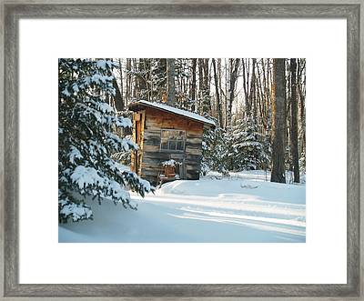Cold Outlook Framed Print by Susan Crossman Buscho