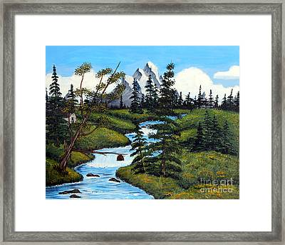Cold Rattling Brook  Framed Print by Barbara Griffin