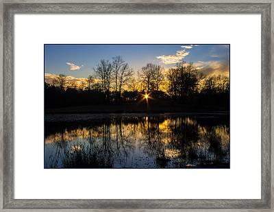 Cold Reflection Framed Print by Gretchen Gegenheimer