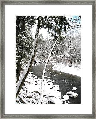 Cold River Greeting Card Framed Print by Will Boutin Photos