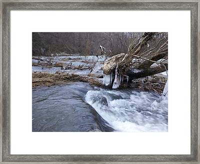 Cold River  Framed Print by Kiara Reynolds