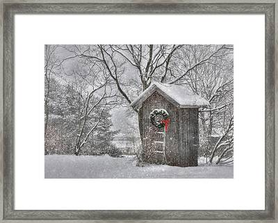 Cold Seat Framed Print by Lori Deiter