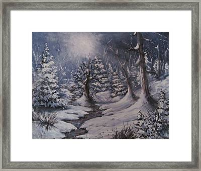 Framed Print featuring the painting Cold Snap by Megan Walsh