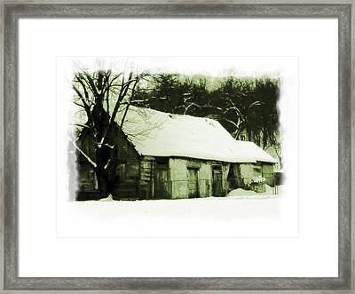Countryside Winter Scene Framed Print by Nina Ficur Feenan