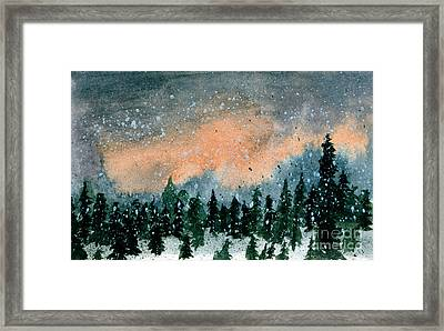 Cold Snow At Twilight Framed Print
