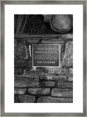 Cold Spring Of Dixville Notch Close-up Framed Print