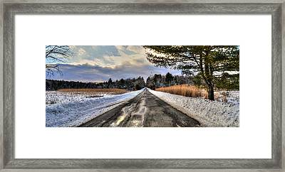 Cold Spring Road - Berkshire County Framed Print