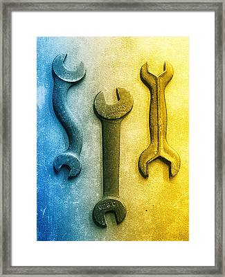 Cold Steel Framed Print by Tom Druin