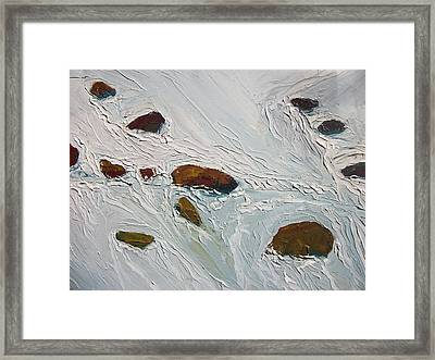 Cold Stream Framed Print by Dwayne Gresham