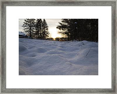Cold Sunrise 1  Framed Print by Tim Fitzwater