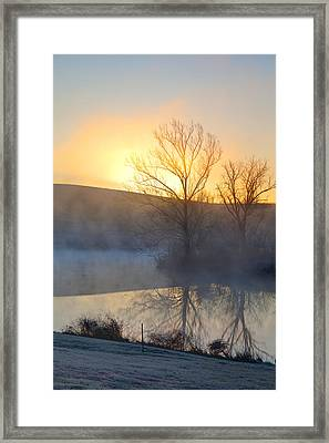 Cold Sunrise Framed Print by Alexey Stiop