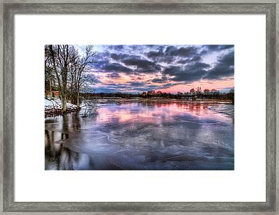 Cold Sunrise Framed Print