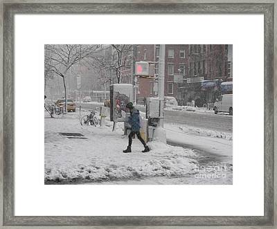 Cold Walk Framed Print by James Dolan