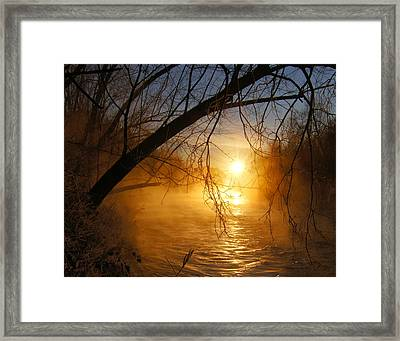 Cold Water Sunrise Framed Print by Jeremy Farnsworth