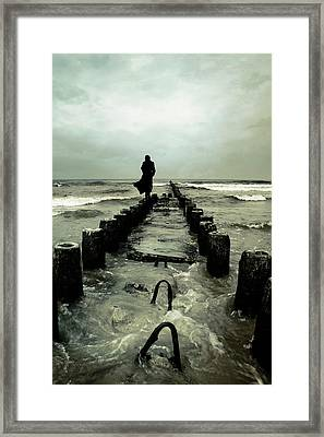 Cold Waves Framed Print by Cambion Art