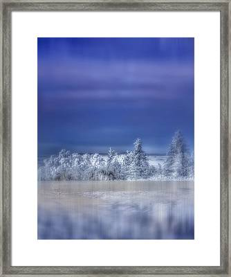 Cold Winter Day Framed Print by Ellen Heaverlo