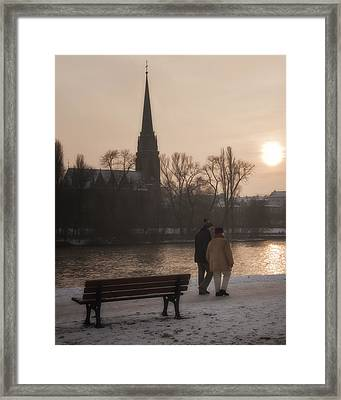 Cold Winter Light Framed Print by Joan Carroll