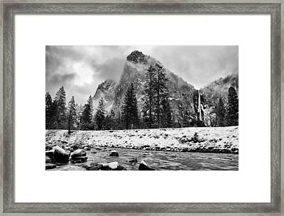 Cold Winter Morning Framed Print by Cat Connor