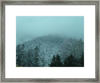 Cold Winter Romania Framed Print by Andreea Alecu