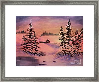 Cold Winter Sunset Framed Print