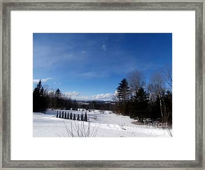 Cold Winter's Day Framed Print by Steven Valkenberg