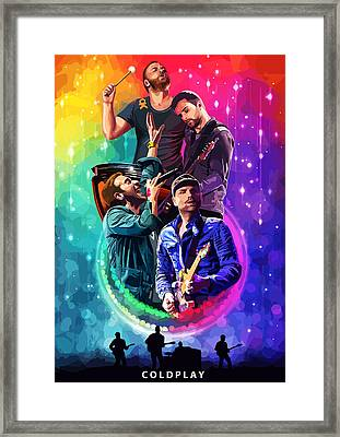 Coldplay Mylo Xyloto Framed Print by FHT Designs