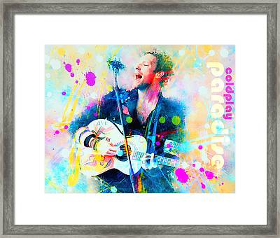Coldplay Paradise Framed Print