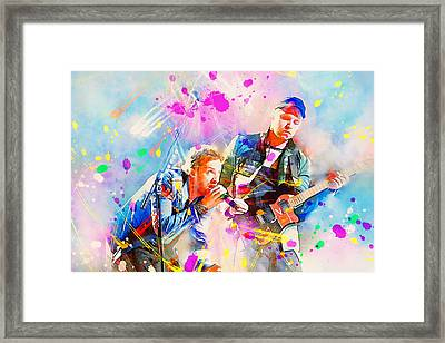 Coldplay Framed Print by Rosalina Atanasova