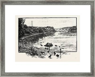 Coldstream Bridge, From Up-stream. Coldstream Bridge Framed Print by English School