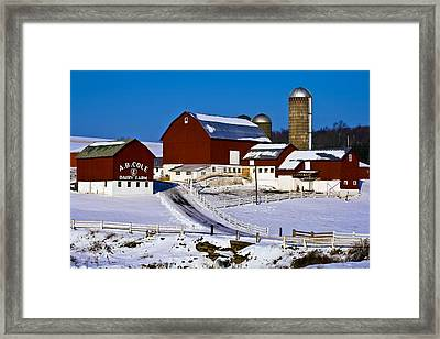 Cole Dairy Farm Framed Print by David Simons
