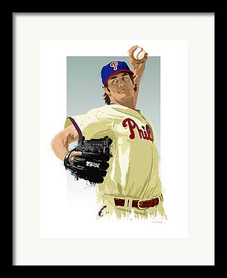 Cole Hamels Framed Prints