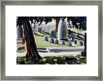 Cole Porter Burial Site Framed Print