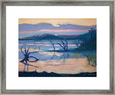 Coletta Lake Framed Print by Charles Krause