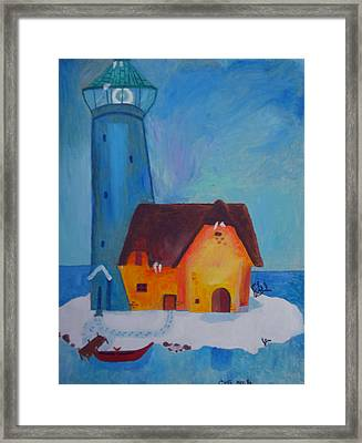 Colette First Paint Year 1986 Framed Print