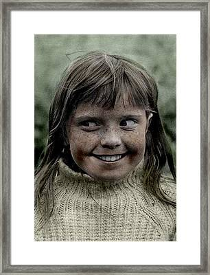 Colette Monkey 9 Years Old Becoming A Serious Life Player Framed Print by Colette V Hera  Guggenheim