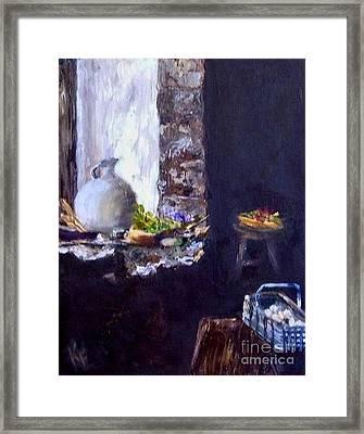 Colette's Country Kitchen Framed Print by Kathleen Farmer
