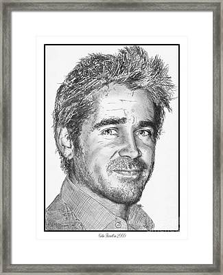 Colin Farrell In 2009 Framed Print by J McCombie