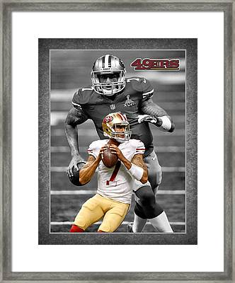 Colin Kaepernick 49ers Framed Print by Joe Hamilton