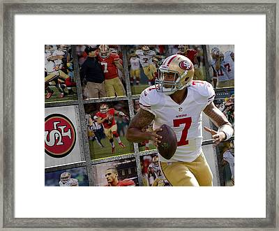Colin Kaepernick San Francisco 49ers Framed Print by Joe Hamilton
