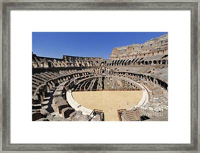 Coliseum . Rome Framed Print by Bernard Jaubert
