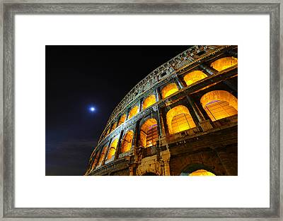 Coliseum Framed Print by Aaron Bedell
