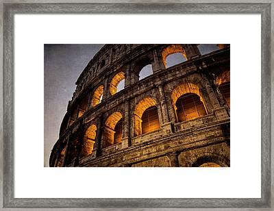 Colosseum Dawn Framed Print