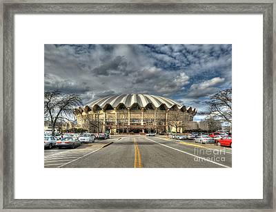 Framed Print featuring the photograph Coliseum Daylight Hdr by Dan Friend